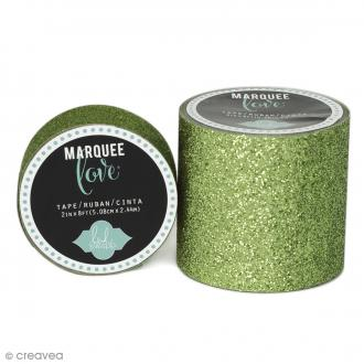 Masking tape large Marquee Love - Vert paillettes - 5,08 cm x 2,44 m
