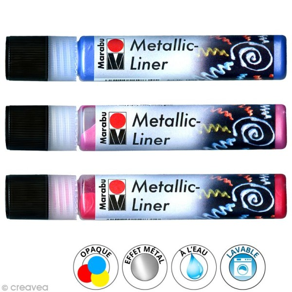 Peinture Metallic Liner 25 ml - Photo n°1