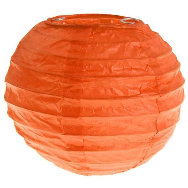 2 lampions boules chinoises 20 cm orange lampion papier creavea. Black Bedroom Furniture Sets. Home Design Ideas