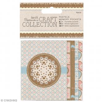Pochette souvenir en papier - Craft Collection - 5 pcs