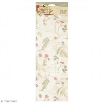 Papier de soie Nature's Gallery - 4 feuilles de 50 x 75cm
