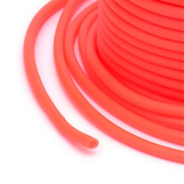 Cordon creux caoutchouc  2 mm orange - Photo n°2
