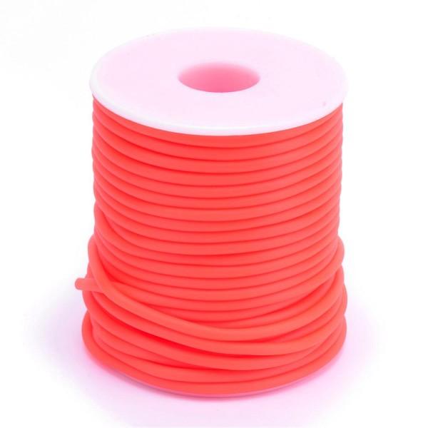 Cordon creux caoutchouc  2 mm orange - Photo n°3