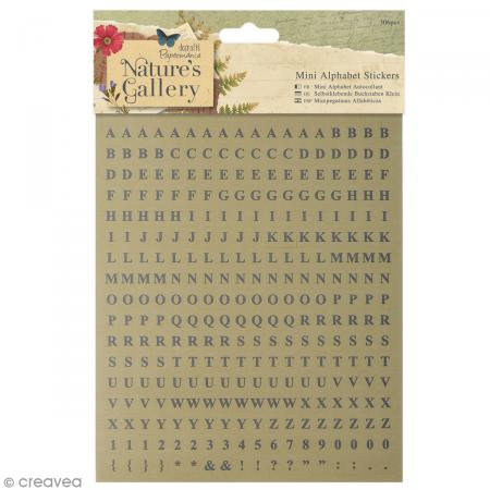 Planche stickers alphabet Nature's Gallery - 306 pcs - Photo n°1