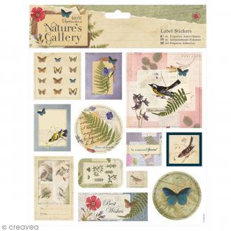 Etiquettes autocollantes Nature's Gallery - 12 pcs