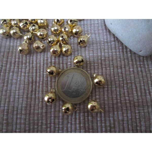Grelots ronds qualité sup(laiton),10 mm,dorés - Photo n°2