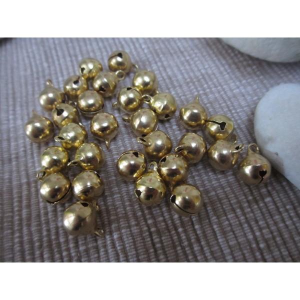 Grelots ronds qualité sup(laiton),10 mm,dorés - Photo n°4