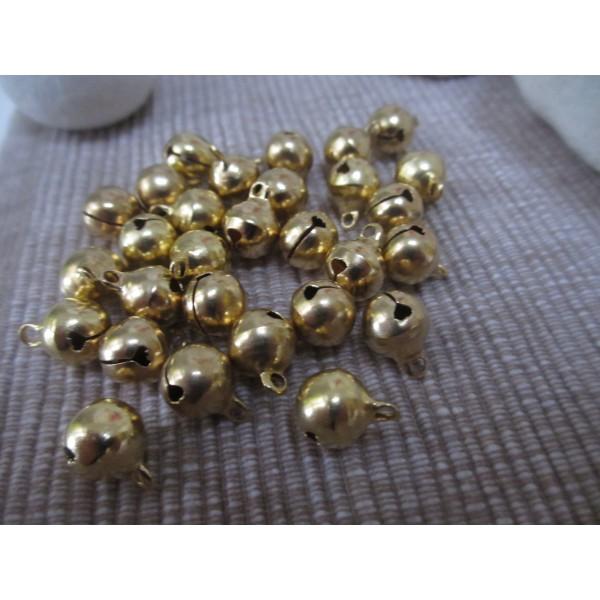 Grelots ronds qualité sup(laiton),10 mm,dorés - Photo n°5