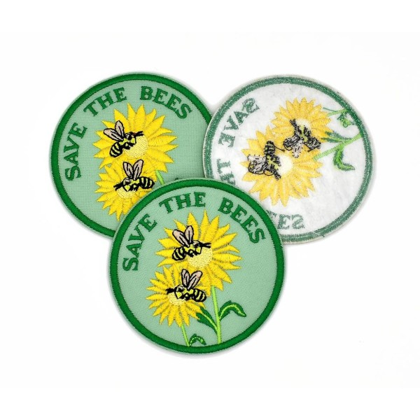 Ecusson brodé Save the bees patch thermocollant  Sauvons les abeilles - Photo n°3