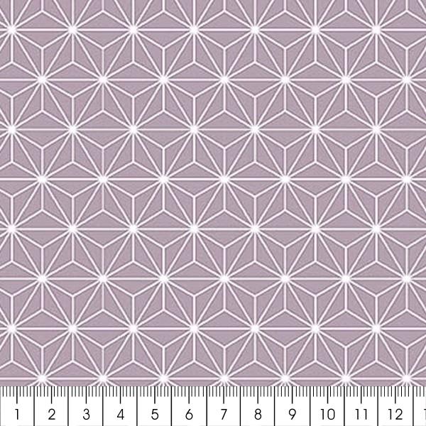 Grand coupon de tissu coton microfibre - Motif Etoile scandinave - Gris - 300 x 160 cm - Photo n°2