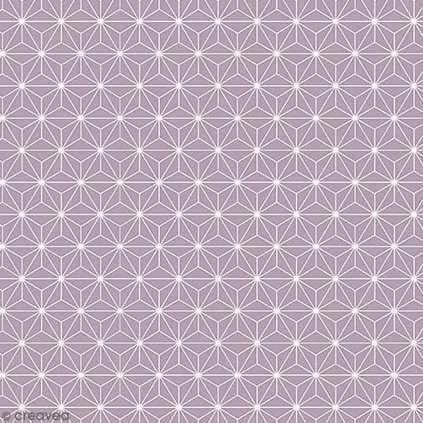 Grand coupon de tissu coton microfibre - Motif Etoile scandinave - Gris - 300 x 160 cm - Photo n°1