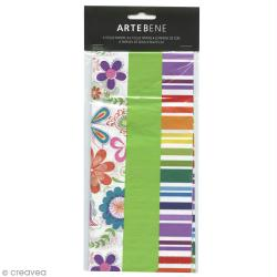 Assortiment papiers de soie Jardin fleuri - 50 x 70 cm - 6 pcs