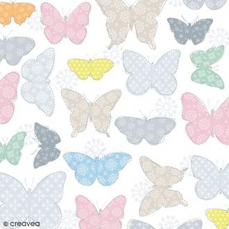 Serviette en papier Nature - Papillons multicolores - 20 pcs