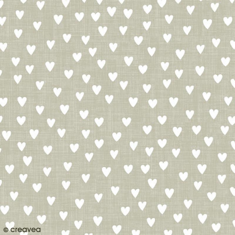 serviette en papier mariage coeurs blancs sur fond gris 20 pcs serviette en papier en. Black Bedroom Furniture Sets. Home Design Ideas