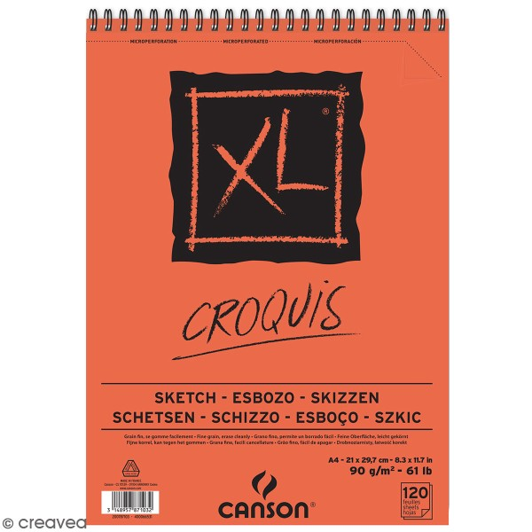 Carnet A4 Canson XL - Croquis - 120 feuilles - Photo n°1