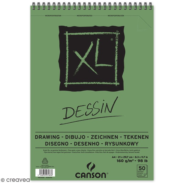 Carnet A4 Canson XL - Dessin - 50 feuilles - Photo n°1