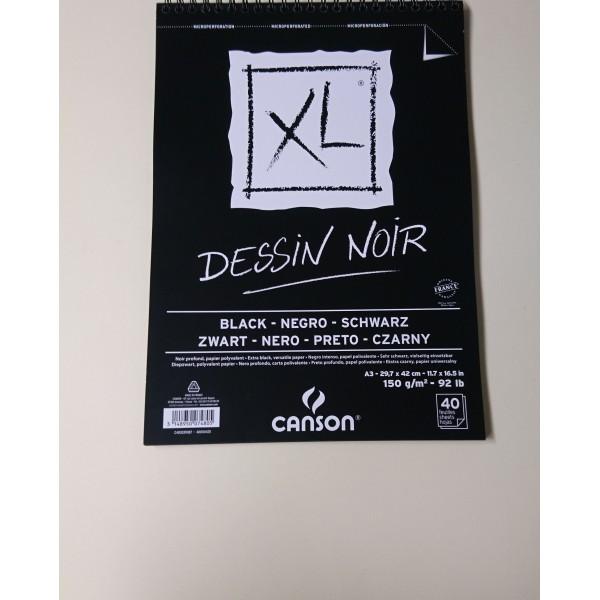 Carnet de dessin noir Canson A3 - Photo n°1