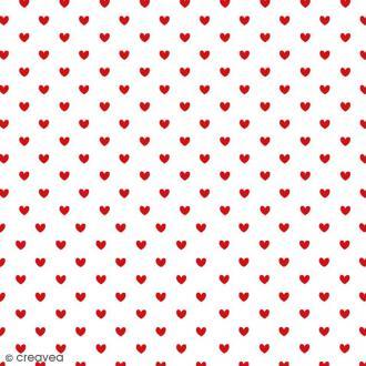 Serviette en papier Mariage - Petits coeurs rouges - 20 pcs