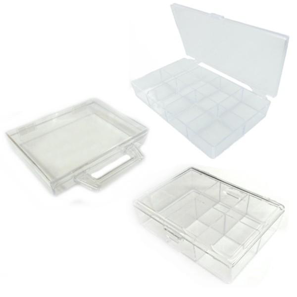 Boîtes de rangement en plastique - Kit Lot de 3 pièces - Photo n°1