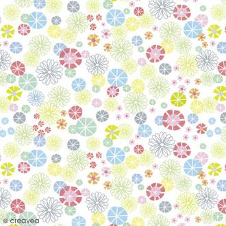Serviette en papier Fleur - Fleurs diverses multicolores - 20 pcs