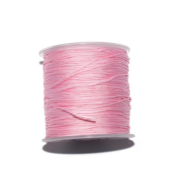 Fil nylon tressé 1 mm rose clair x1 m - Photo n°1