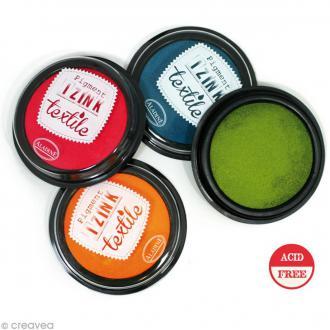 Stampo'textile - Encreur textile Izink - 7 cm - 12 coloris
