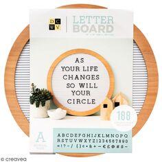 Letter board rond à bords en bois - 38 cm