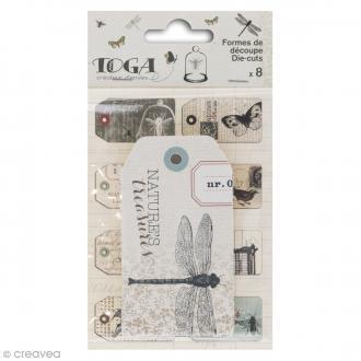 Tags étiquettes Cabinet de curiosités - 5 x 9 cm - 8 pcs