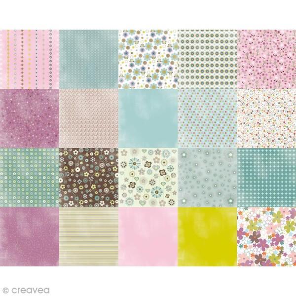 Papier Origami Recto/Verso Mille et une fleurs - 15 x 15 cm - 100 pcs - Photo n°2