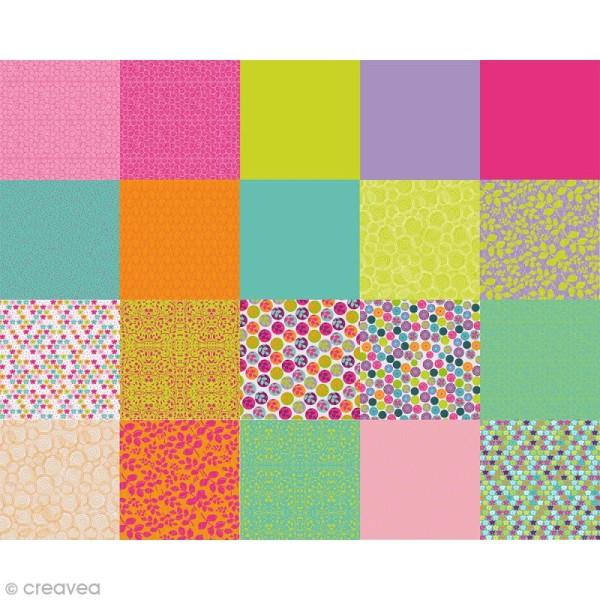 Papier Origami Recto/Verso Pois de senteur - 15 x 15 cm - 100 pcs - Photo n°2