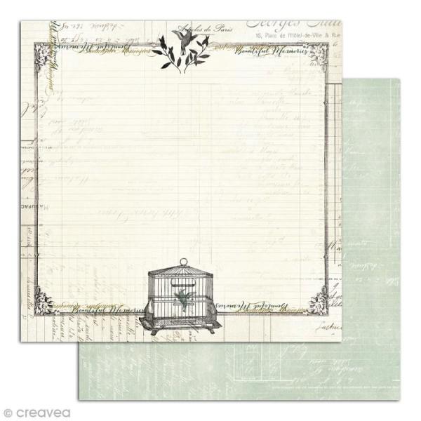Papier scrapbooking Recto/Verso Cabinet de curiosités - Set de 6 feuilles - 30,5 x 30,5 cm - Photo n°3