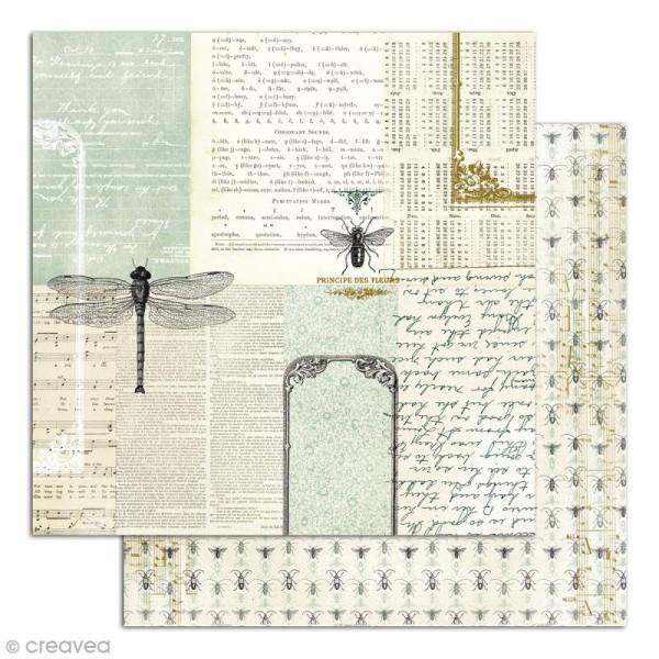 Papier scrapbooking Recto/Verso Cabinet de curiosités - Set de 6 feuilles - 30,5 x 30,5 cm - Photo n°4