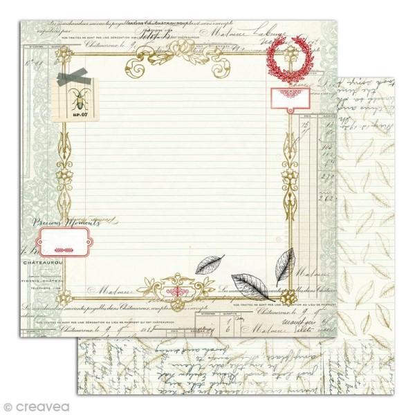 Papier scrapbooking Recto/Verso Cabinet de curiosités - Set de 6 feuilles - 30,5 x 30,5 cm - Photo n°5