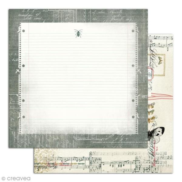 Papier scrapbooking Recto/Verso Cabinet de curiosités - Set de 6 feuilles - 30,5 x 30,5 cm - Photo n°6