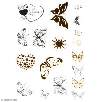 Tatouage temporaire Bijoux - Papillons - 18 tattoos
