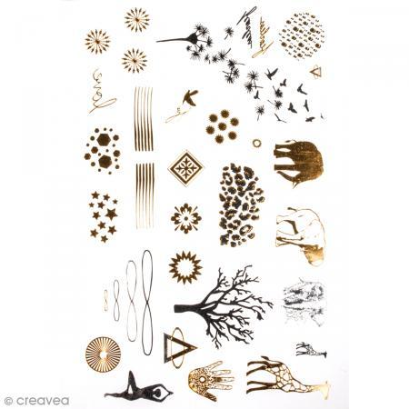 Tatouage temporaire Bijoux , Nature et animaux , 34 tattoos , Photo n°1
