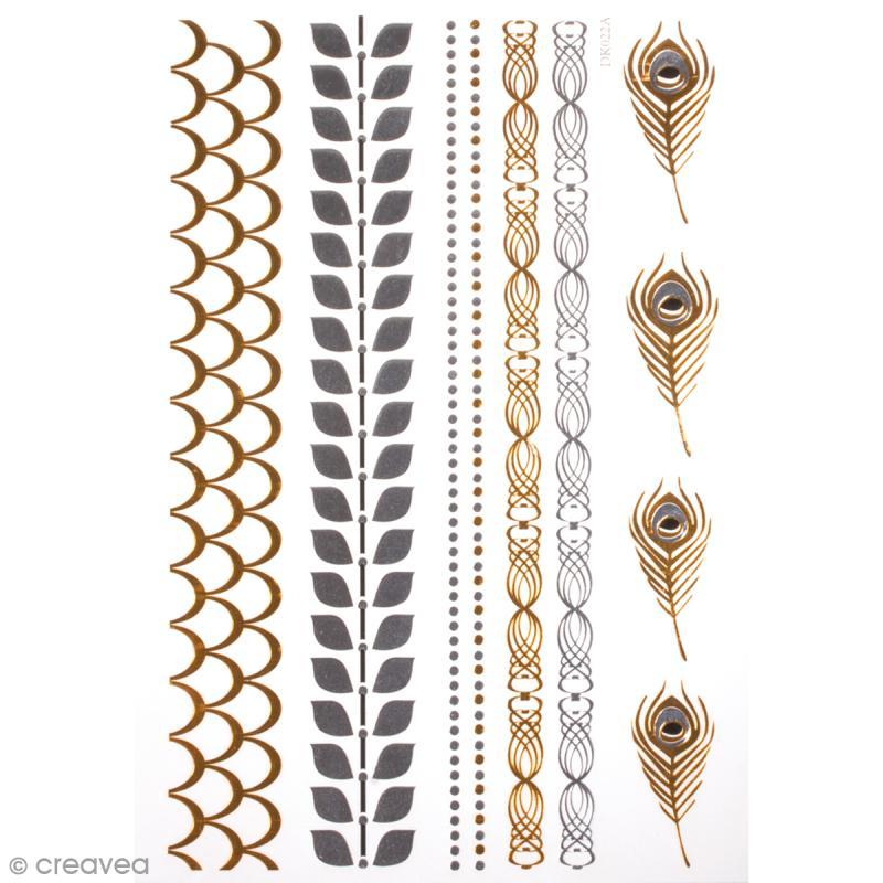tatouage temporaire bijoux bracelets et plumes 10 tattoos tattoo temporaire creavea. Black Bedroom Furniture Sets. Home Design Ideas