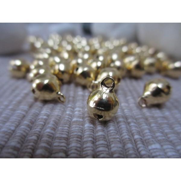 Grelot doré 10mm diam. forme ronde,50 pces,qualité sup.(laiton), - Photo n°1