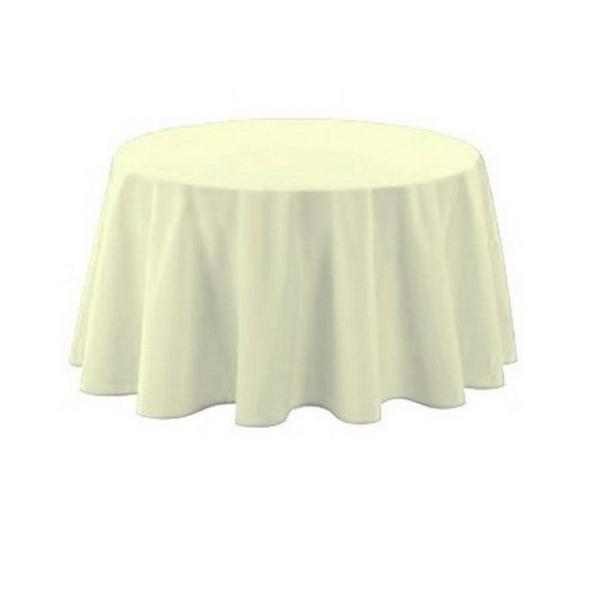 Nappe polyester ronde D180 cm écrue - Photo n°1