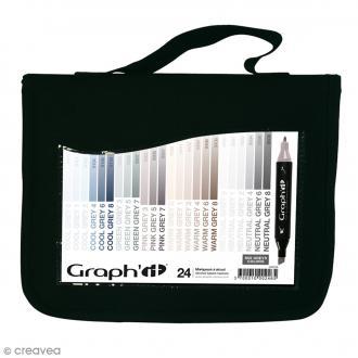 Assortiment Feutre à alcool Graph'it Mix greys colors - 24 marqueurs