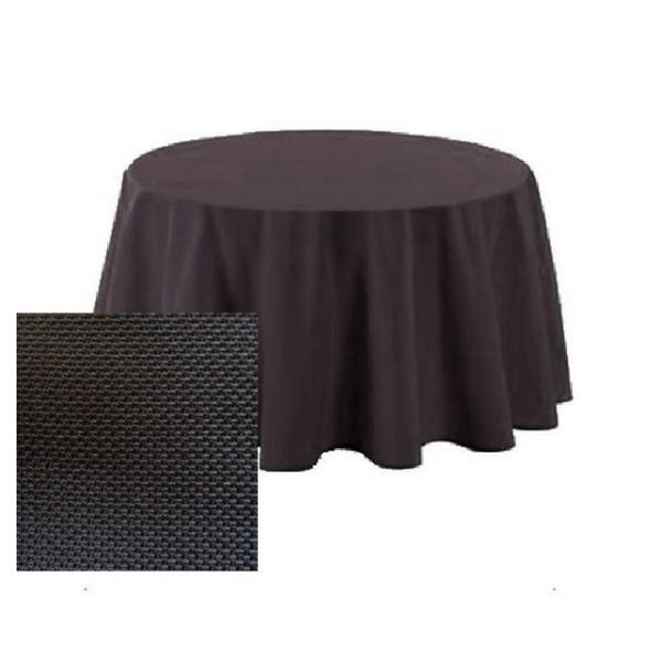Nappe polyester anthracite texturée D180 cm - Photo n°1