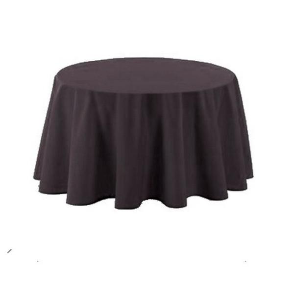 nappe polyester ronde d180 cm gris anthracite nappes creavea. Black Bedroom Furniture Sets. Home Design Ideas