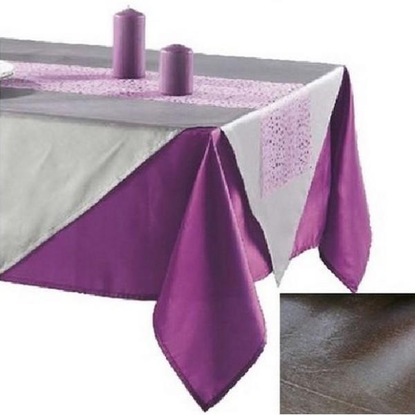 nappe taffetas 140 cm x 240 cm gris anthracite nappes creavea. Black Bedroom Furniture Sets. Home Design Ideas