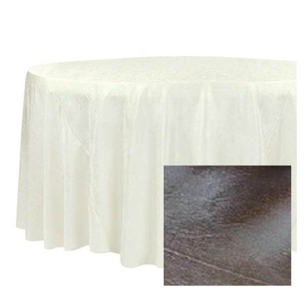 nappe taffetas ronde d180 cm gris anthracite nappes creavea. Black Bedroom Furniture Sets. Home Design Ideas