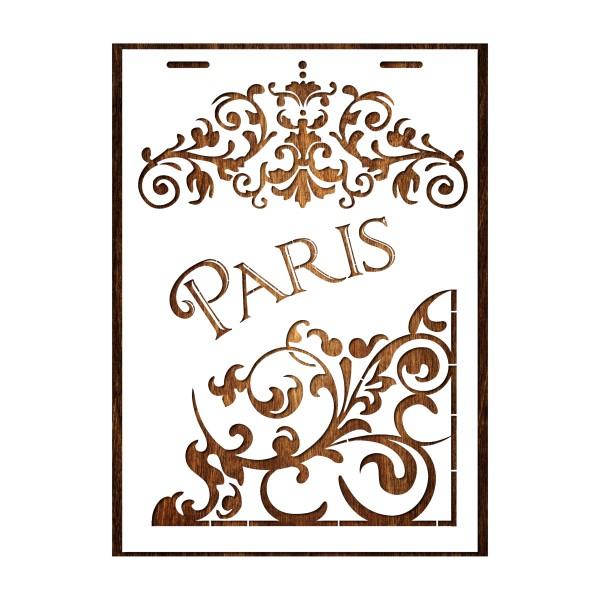 POCHOIR EN PLASTIQUE MYLAR  Format A4 (21*29.7cm)  Paris vintage - Photo n°1