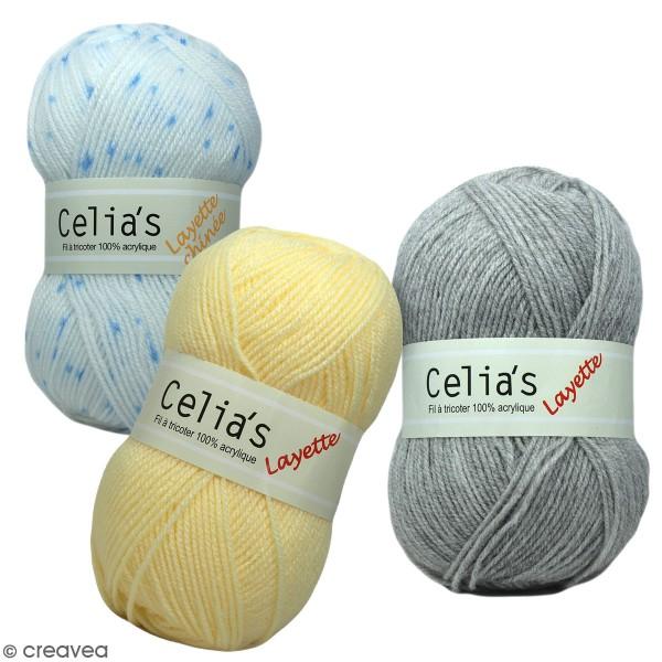 Pelote de laine layette Celia's - 50 g - 100 % acrylique - Différents coloris - Photo n°1