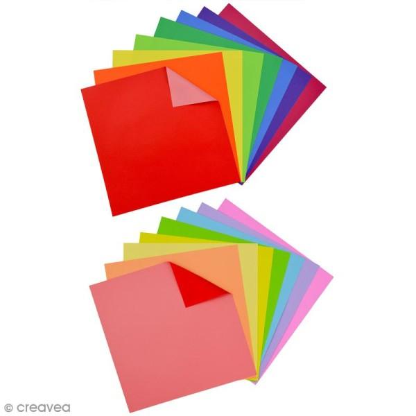 Papier origami waterproof - Assortiment Uni - 8 feuilles 15 x 15 cm - Photo n°2