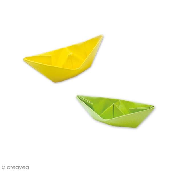Papier origami waterproof - Assortiment Uni - 8 feuilles 15 x 15 cm - Photo n°3