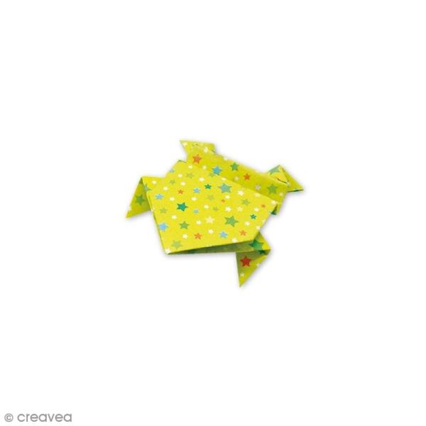 Papier origami waterproof - Assortiment Petits coeurs Pois et étoiles - 8 feuilles 15 x 15 cm - Photo n°5