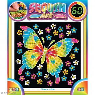 Sequin art 60 minutes - Papillon - Tableau 17 x 17 cm